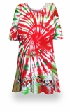 SALE! Peppermint Swirl Tie Dye Supersize X-Long Plus Size T-Shirt + Add Rhinestones 0x 1x 2x 3x 4x 5x 6x 7x 8x