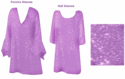 SOLD OUT! CLEARANCE! Stunning Lavender & Silver, Magenta, or Blue Glimmer Plus Size Supersize Shirt 2X