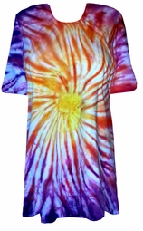 SALE! Sunset Swirl Tie Dye Plus Size T-Shirt XL 2x 3x 4x 5x 6x