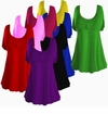 CLEARANCE! Black Royal Red Purple Hot Pink Cotton Lycra Mock Button Top Plus Size & Supersize Short Sleeve Shirt 1x 2x 5x