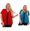 CLEARANCE SALE! Teal or Red Plus Size Layered Ruffled Slinky Top 4x 5x
