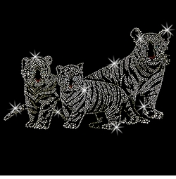 SALE! Tiger Mother and Cubs Rhinestud Rhinestones Plus Size & Supersize T-Shirts S M L XL 2x 3x 4x 5x 6x 7x 8x 9x (All Colors)