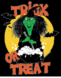 SALE! Trick Or Treat Witch & Bats Halloween Plus Size & Supersize T-Shirts S M L XL 2x 3x 4x 5x 6x 7x 8x (All Colors)
