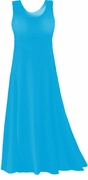 SOLD OUT! Turquoise Slinky or Cotton Plus Size & Supersize A-Line or Princess Cut Tank Dresses