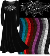 CLEARANCE! Velvet Rhinestud or Plain Velvet Plus Size & Supersize Dresses and Tops xl 0x 4x