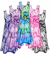 SOLD OUT! Vivid Swirl Cotton Tie Dye Plus Size & Supersize Princess Cut Tank Dress 0x 2x