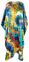 CLEARANCE! Customizable Plus Size Bright Floral Print Long Caftan Dress or Shirt