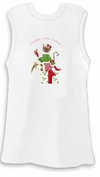 FINAL CLEARANCE SALE! Naughty Little Helper White Plus Size Tank Top 2x