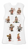 FINAL CLEARANCE SALE! Santa's Little Elves Cute White Plus Size Tank Top 2x