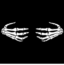 SALE! Skeleton Hands Plus Size & Supersize T-Shirts S M L XL 2xl 3xl 4x 5x 6x 7x 8x (Darks Only)