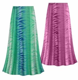 SALE! Customizable Plus Size Purple or Green Zebra Slinky Print Skirts - Sizes Lg XL 1x 2x 3x 4x 5x 6x 7x 8x 9x