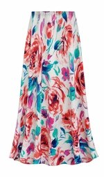 SALE! Customizable Plus Size Floral Slinky Print Skirts - Sizes Lg XL 1x 2x 3x 4x 5x 6x 7x 8x 9x