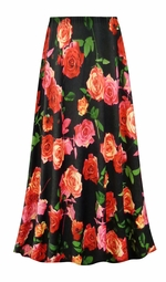 SALE! Customizable Plus Size Roses Slinky Print Skirts - Sizes Lg XL 1x 2x 3x 4x 5x 6x 7x 8x 9x