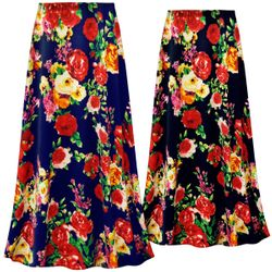 NEW! Customizable Plus Size Floral Slinky Print Skirts - Sizes Lg XL 1x 2x 3x 4x 5x 6x 7x 8x 9x