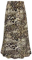 SALE! Plus Size Brown Animal Print Maxi Slinky Skirt 1x 2x 3x