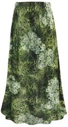 SALE! Plus Size Green Moss Print Maxi Slinky Skirt 2x