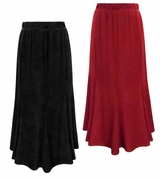 CLEARANCE! Plus Size Black or Red Slinky Maxi Panel Skirt 1x 2x 3x