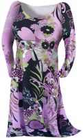 SOLD OUT! Black & Purple Tropical Print Slinky Plus Size & Supersize Customizable Shirts & Jackets Lg to 8x