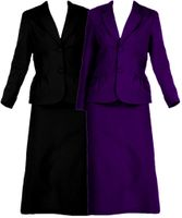 SOLD OUT! CLEARANCE! 2pc Purple Jacket & Skirt Suit Plus Size Supersize 34w 4x 5x