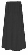 SOLD OUT! Lovely Plain Solid Black Slinky or Spandex Elastic Waist Plus Size Skirt 2x