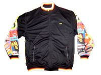 SOLD OUT!!!!Fun Colorful Polyester Jacket With Vintage Graphic Design XL