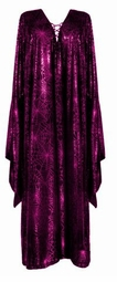 SOLD OUT! Fuschia Pink & Black Gothic Lace-up Bell Sleeve Dress Lg Xl 0x 1x 2x 3x 4x