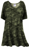 CLEARANCE! Khaki Green Camo Plus Size Supersize Extra Long T-Shirts 7x