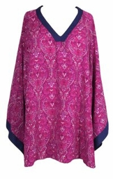SOLD OUT! Purple & Pink Paisley Bell Sleeve Blouse