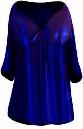 SOLD OUT!!SALE!  Beautiful Midnight Blue Glimmer Slinky Babydoll Tie Shirt