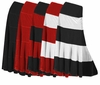 SOLD OUT! Pretty Black Solid or Multi Black Red Plus Size Elastic Waist Crush Velvet Tiered Skirt 4X