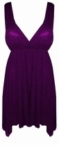 SOLD OUT! Sale!! Solid Purple  Plum Empire Waist Plus Size & Supersize Slinky BabyDoll Top 2x 5x