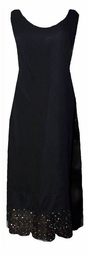 SOLD OUT! Sale! Stunning Onyx Black Dual-Layered Lace Detail Plus Size Tank Dress with Matching Duster Jacket 3x