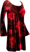 SOLD OUT! Stunning Black & Red Roses Glittery Velvet Plus Size & Supersize Customizable Shirts or Jackets Lg to 9x