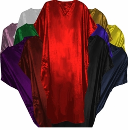 Solid Color Satin OR Cotton Plus Size & Supersize Caftan Dresses or Tops Black Burgundy Green Gold Lavender Navy Pink Purple Red Royal White Yellow 1x 2x 3x 4x 5x 6x 7x 8x