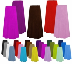 Plus Size Skirts - Customizable Solid Color Slinky or Velvet A/Line or Straight Supersizes Lg XL 0x 1x 2x 3x 4x 5x 6x 7x 8x 9x