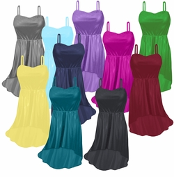 Customizable Slinky Strapped Cascading Plus Size & Supersize Tops & Dresses Lg XL 1x 2x 3x 4x 5x 6x 7x 8x 9x