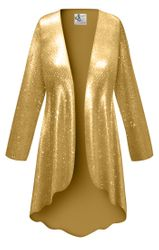 Customizable Metallic Spangle Sequin Slinky Print Plus Size & Supersize Jackets & Dusters - Sizes Lg XL 1x 2x 3x 4x 5x 6x 7x 8x 9x