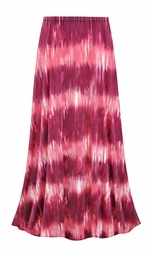 SOLD OUT! Customizable Pink Abstract Slinky Print Plus Size & Supersize Skirts - Sizes Lg XL 1x 2x 3x 4x 5x 6x 7x 8x 9x