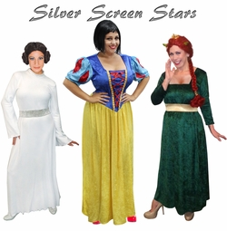 stars of the silver screen plus size costumes