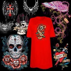 """<font size=""""2"""" color=""""purple""""><b><center>Tattoo & Gothic Prints!<br></b><font size=""""1"""" color=""""red""""> <br></font>"""