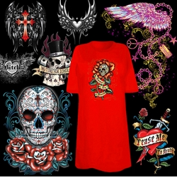 "<font size=""2"" color=""purple""><b><center>Tattoo & Gothic Prints!<br></b><font size=""1"" color=""red""> <br></font>"