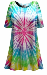 SALE! Easter Egg Pastel Tie Dye Plus Size & Supersize X-Long T-Shirt 0x 1x 2x 3x 4x 5x 6x 7x 8x