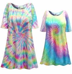 SALE! Easter Egg Swirl Pastel Tie Dye Plus Size & Supersize X-Long T-Shirt 0x 1x 2x 3x 4x 5x 6x 7x 8x
