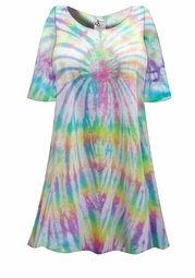 SALE! Festival Pastel Colors Tie Dye Plus Size & Supersize X-Long T-Shirt 0x 1x 2x 3x 4x 5x 6x 7x 8x