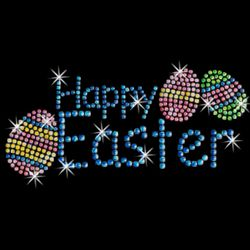 SALE! Happy Easter Sparkly Rhinestud Rhinestones Plus Size & Supersize T-Shirts S M L XL 2x 3x 4x 5x 6x 7x 8x 9x (All Colors)