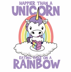 SOLD OUT! Happier Than a Unicorn Eating Cake on a Rainbow Plus Size & Supersize T-Shirts S M L XL 2x 3x 4x 5x 6x 7x 8x 9x (Light/Dark Colors)