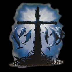 SALE! The Gathering Cross & Dolphins Plus Size & Supersize T-Shirts S M L XL 2x 3x 4x 5x 6x 7x 8x (All Colors)