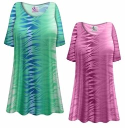 SALE! Customizable Plus Size Purple or Green Zebra Slinky Print Short or Long Sleeve Shirts - Tunics - Tank Tops - Sizes Lg XL 1x 2x 3x 4x 5x 6x 7x 8x 9x