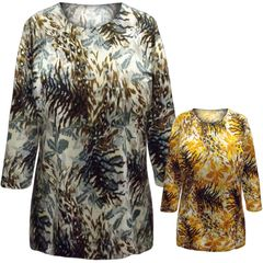84127916b928d SOLD OUT! SALE! Plus Size Gray Abstract Seaweed Print 3 4 Sleeve Slinky