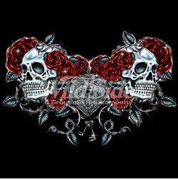 SOLD OUT! Skulls Roses and Key Heart Plus Size & Supersize T-Shirts S M L XL 2x 3x 4x 5x 6x 7x 8x 9x (All Colors)